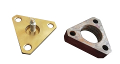 brass valve and iron flange