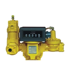 Meter with mechanical register, strainer, air eliminator and solenoid valve